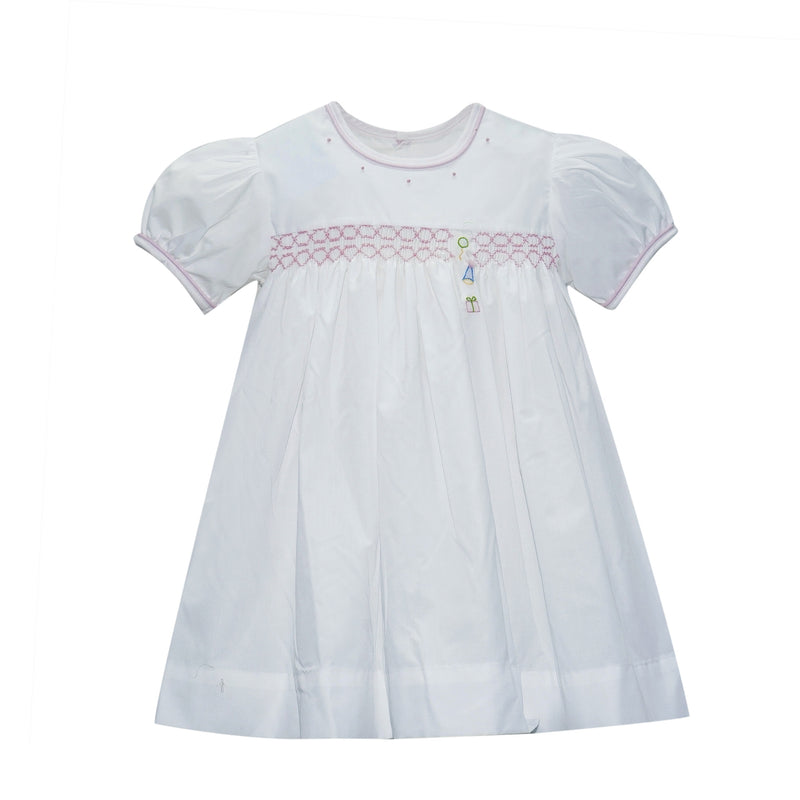 Balloon/Hat/Present Embroidered Dress - Born Childrens Boutique