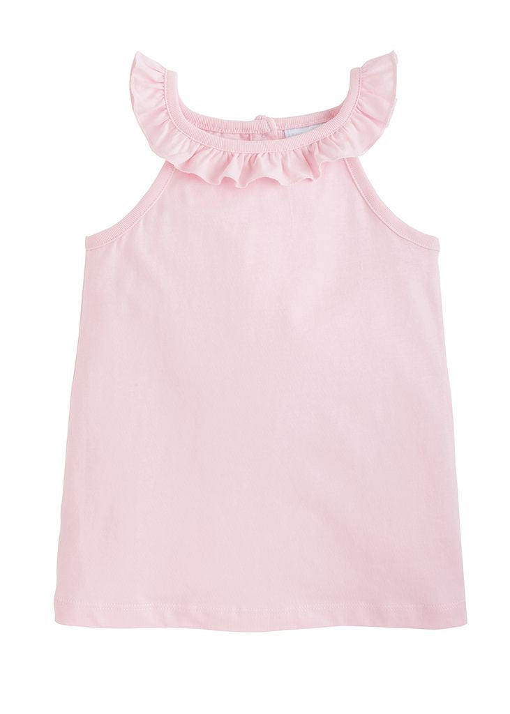 Ruffled Tank - Light Pink - Born Childrens Boutique