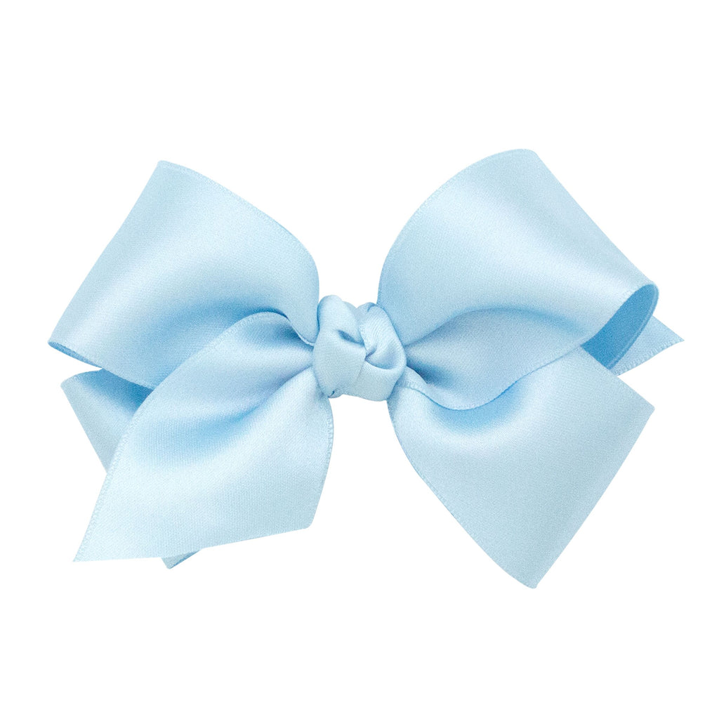 Wee Ones Satin Light Blue Bow