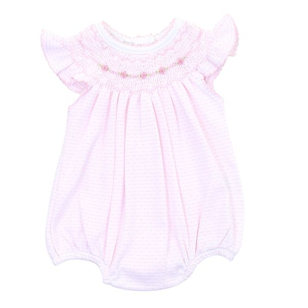 Maddy and Michael's Classics Bishop Flutters Bubble Pink - Born Childrens Boutique