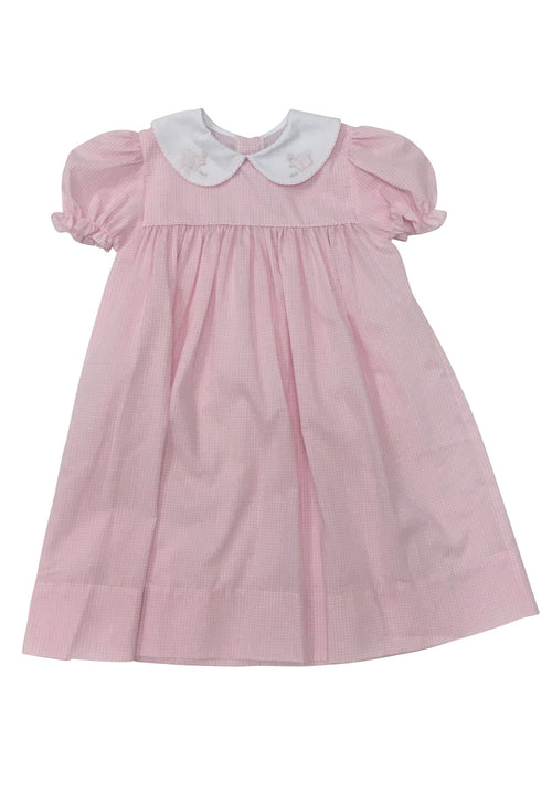 Auraluz Pink Check Dress with Bunny