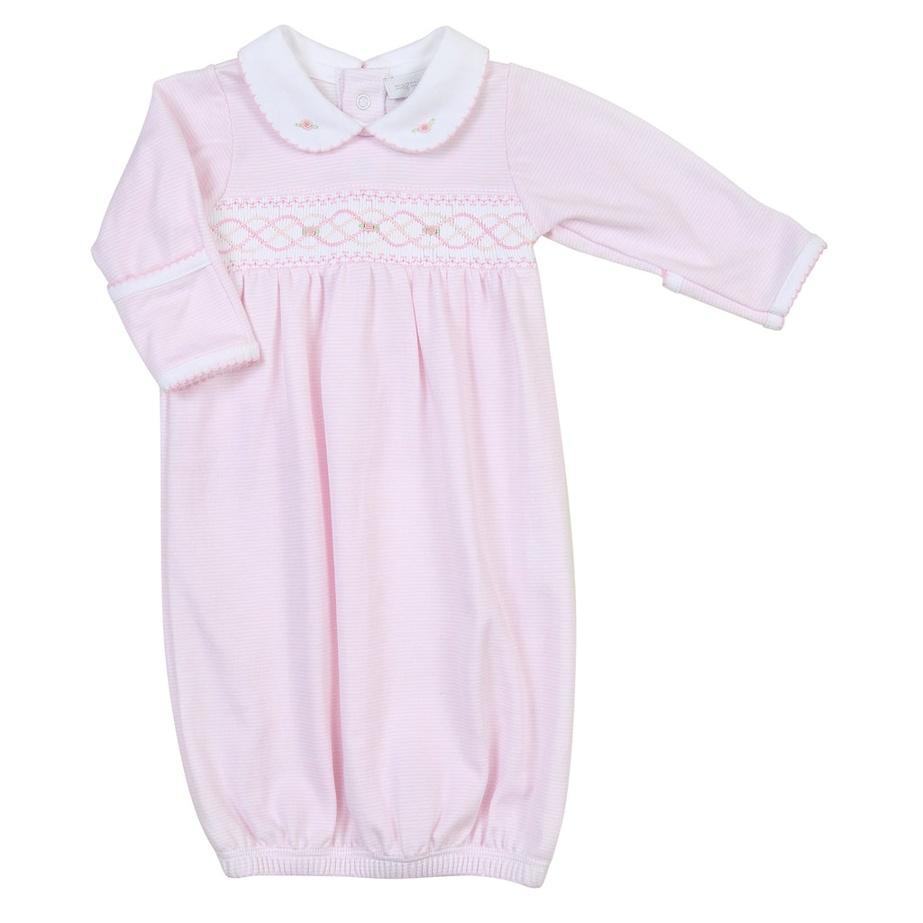 Claire and Clive's Classics Smocked Gown - Pink - Born Childrens Boutique