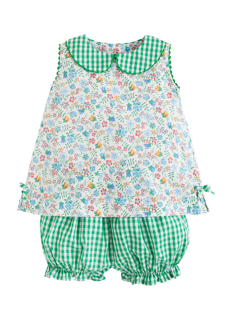 Lily Bloomer Set Augusta Floral - Born Childrens Boutique