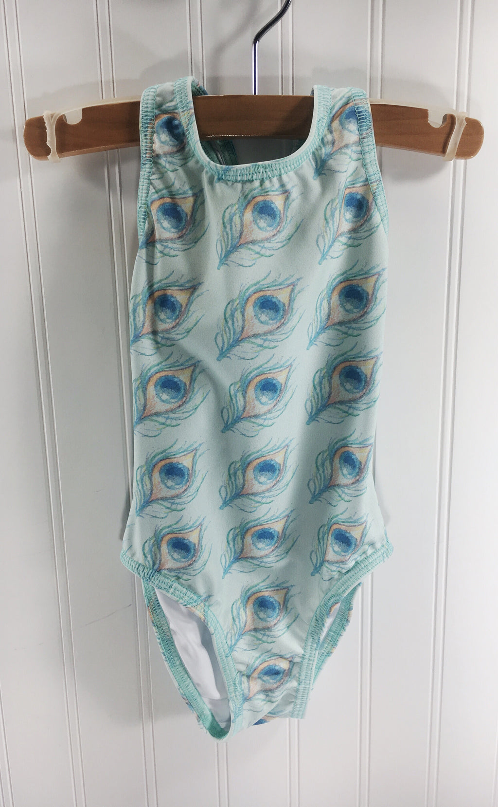 Isabella Baby Swimsuit Peacock Feathers