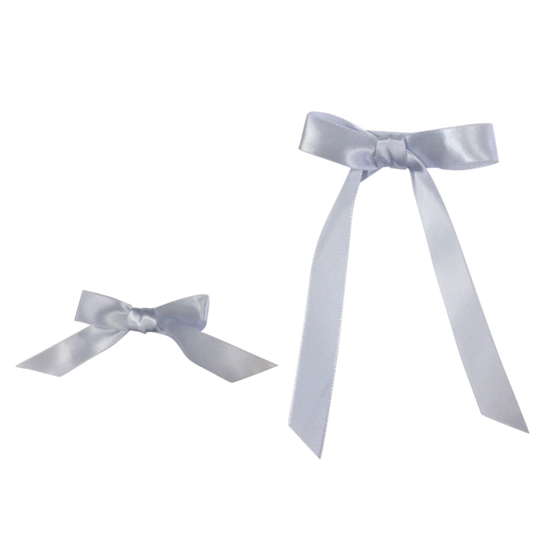 Mae Bow Satin Pale Light Blue