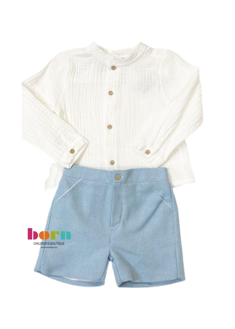 Granada 2 Piece Short Set - Sky Blue