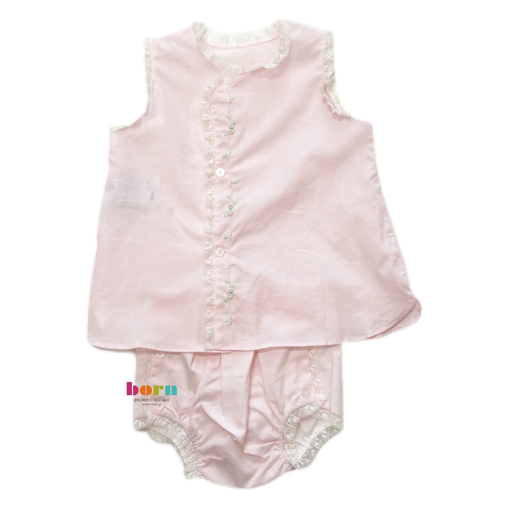 Pink Blanche Girl Diaper Set - Born Childrens Boutique