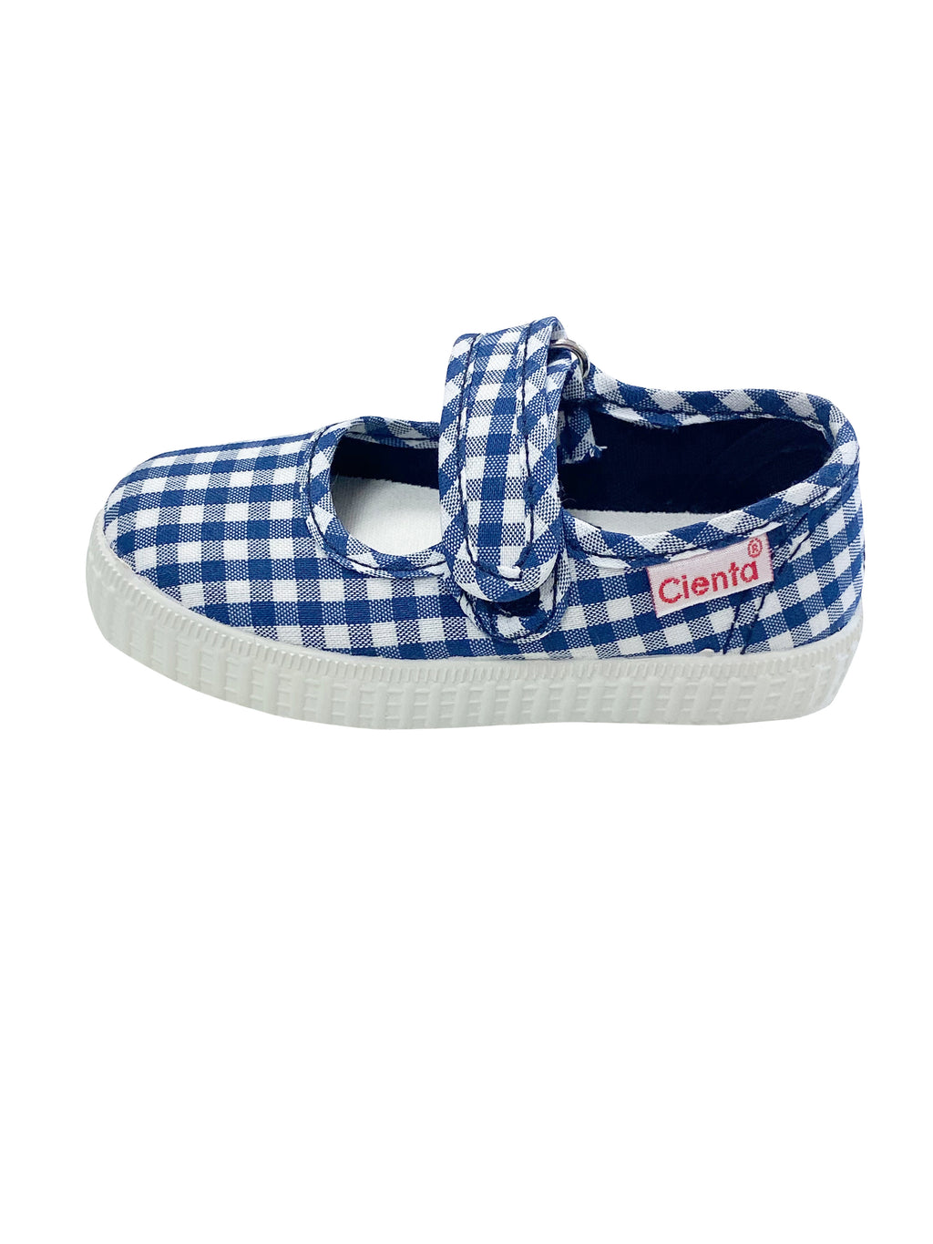 Cienta Kids Mary Jane Navy Gingham - Born Childrens Boutique