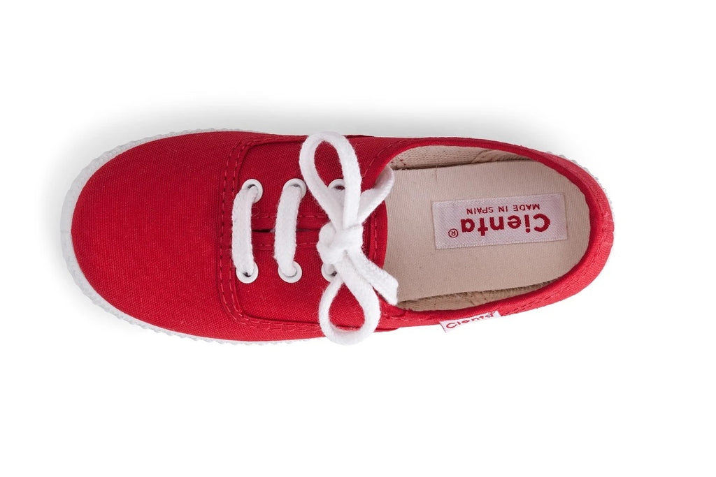 Cienta Kids Red Lace Up - Born Childrens Boutique