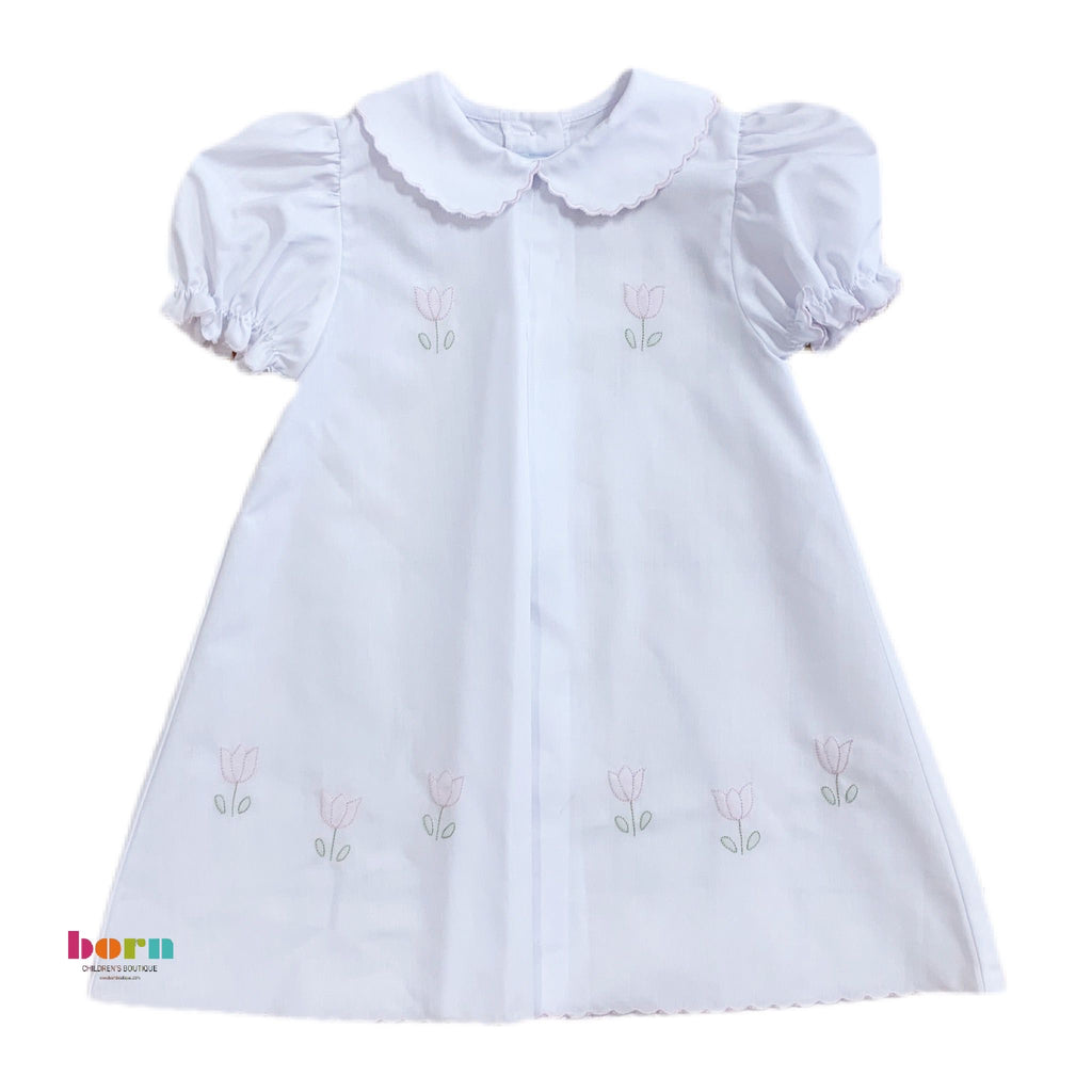 Baby Dress, Pink Tulip - Born Childrens Boutique