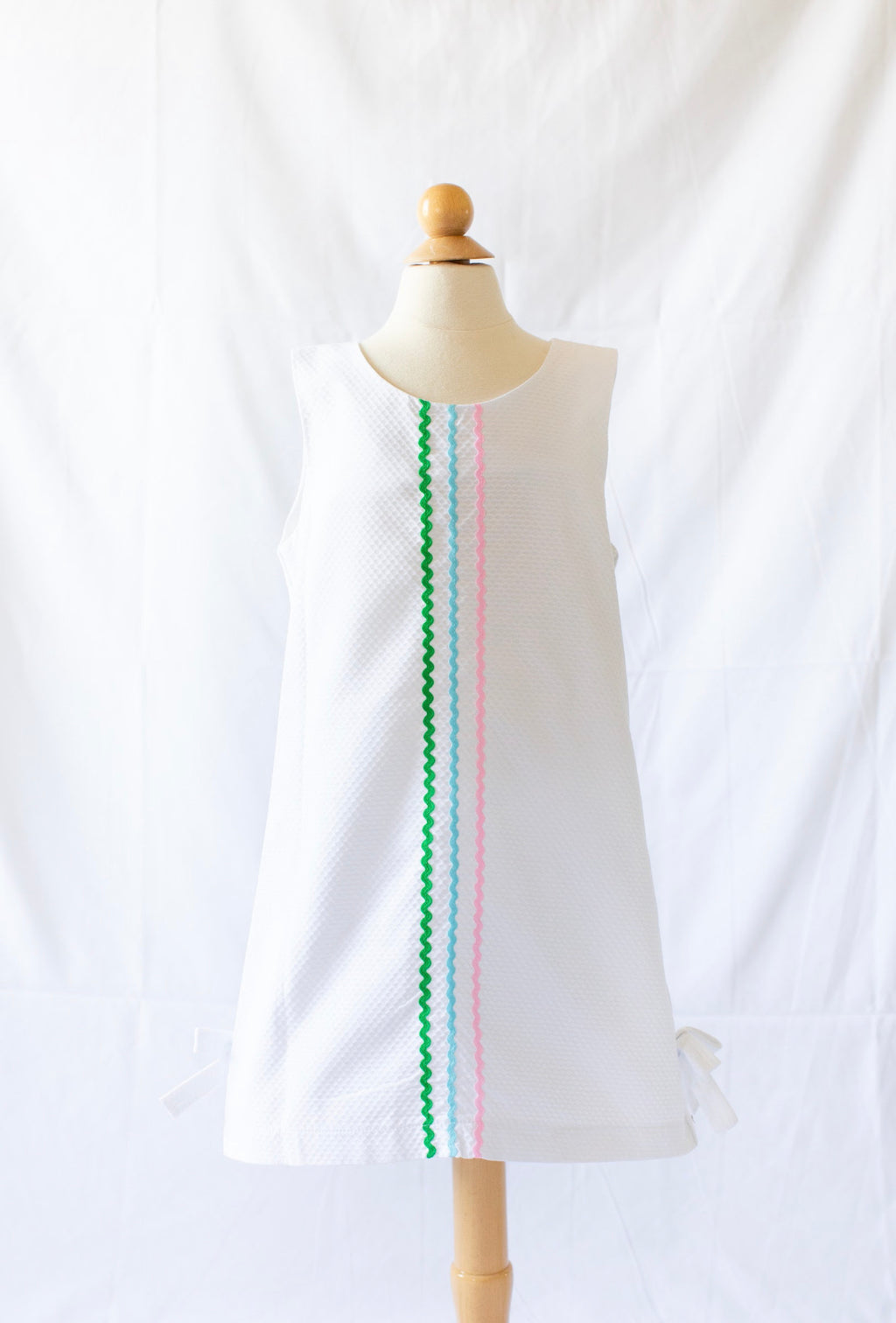 Sophie Dress - White Pique - Born Childrens Boutique