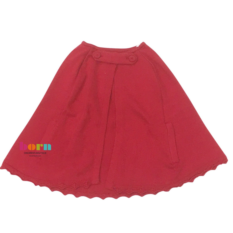 Royal Cape Sweater - Red - Born Childrens Boutique