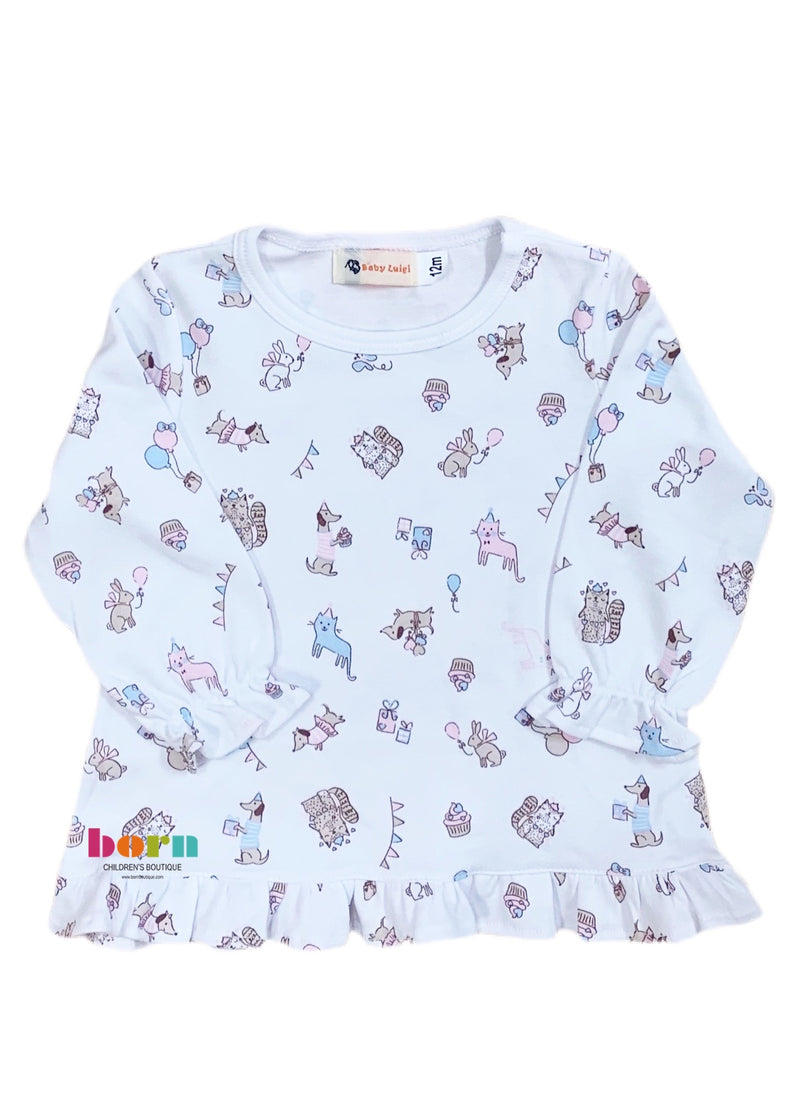 Swing Top Party Dog & Cat Print - Born Childrens Boutique