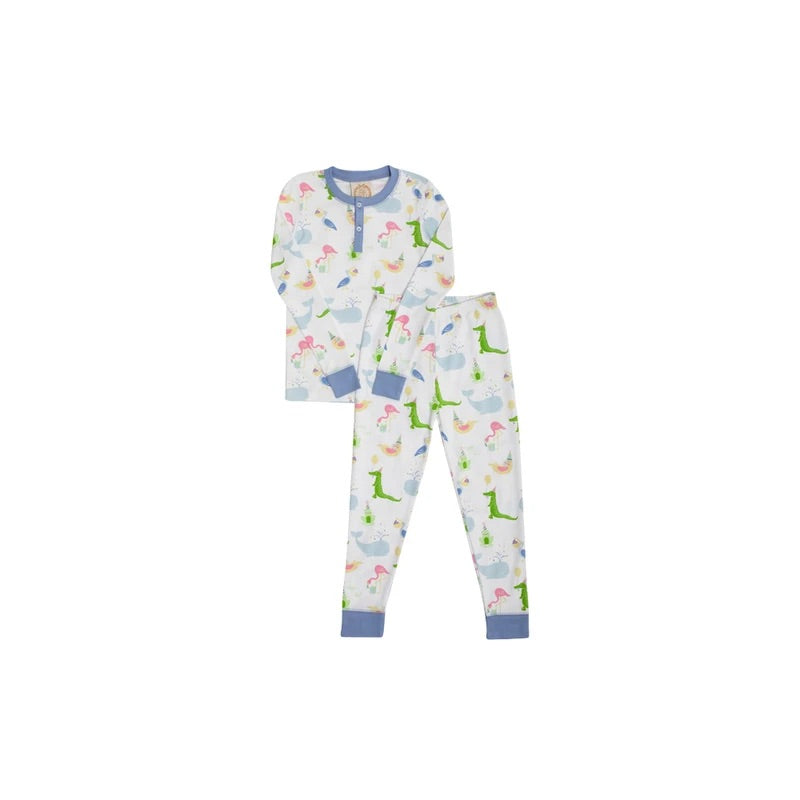 Sutton's Sweet Dreams Set - Oh Hoppy Day/Park City Perwinkle - Born Childrens Boutique