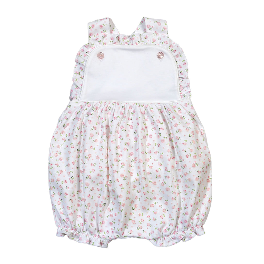 Alice Pink Floral Pima Sun Bubble - Born Childrens Boutique
