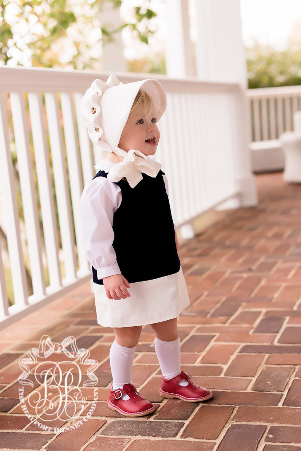 Beaufort Bonnet Palmetto Pearl Cord - Email to Order - Born Childrens Boutique