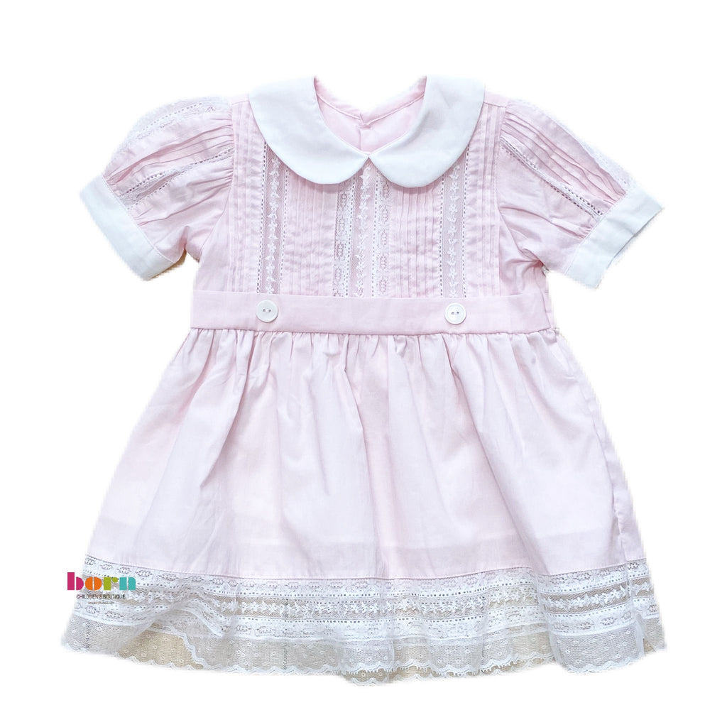 Pink Riley Dress - Born Childrens Boutique
