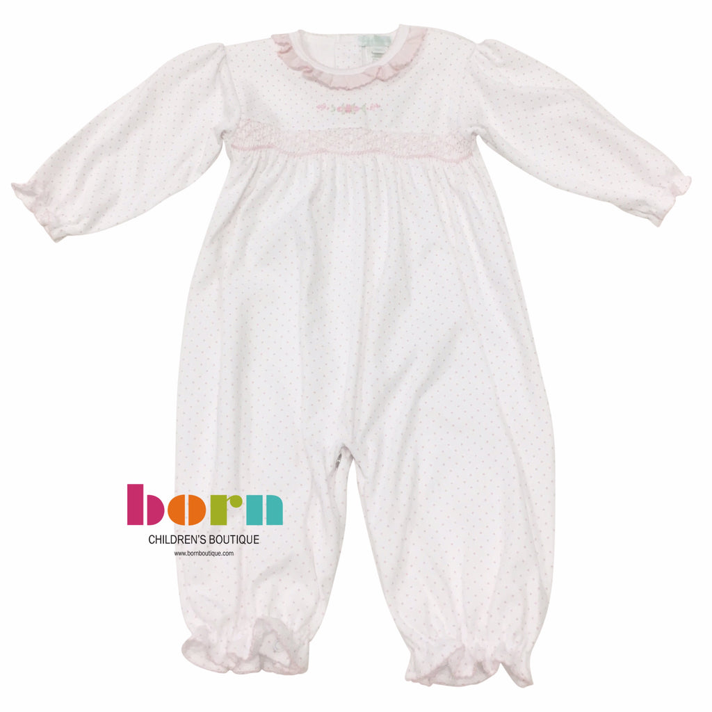 Pink Dot w/ Pink Roses Smocked Converter - Born Childrens Boutique