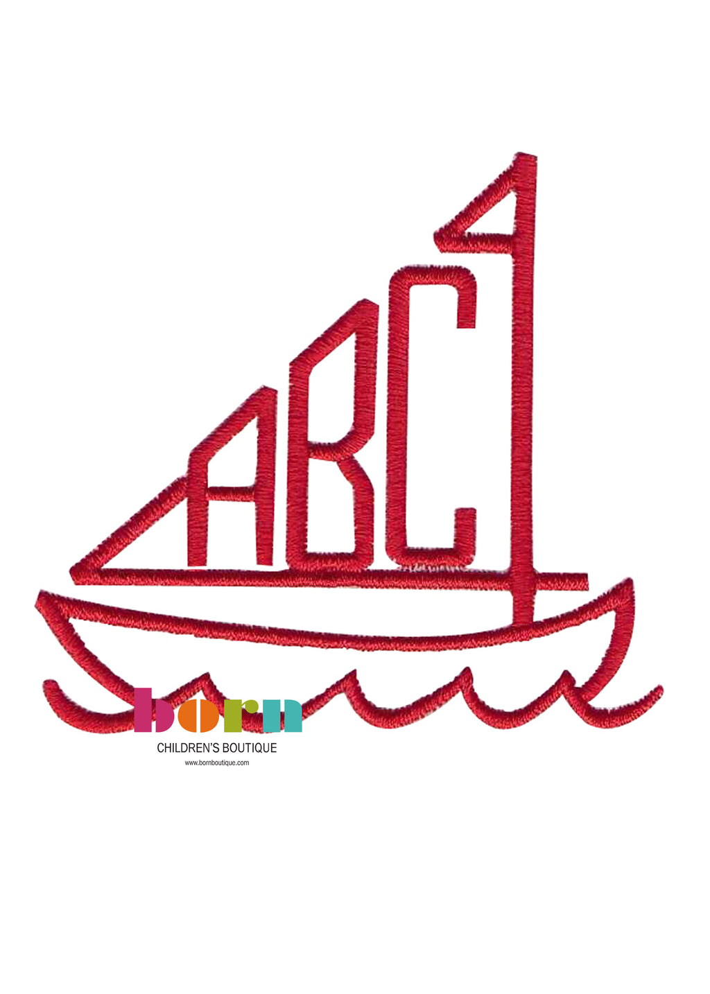 Sailboat Initials - Born Childrens Boutique