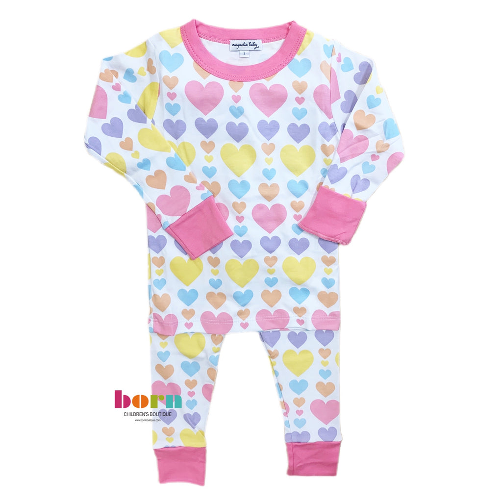 My Heart Long Pajama PK - Born Childrens Boutique