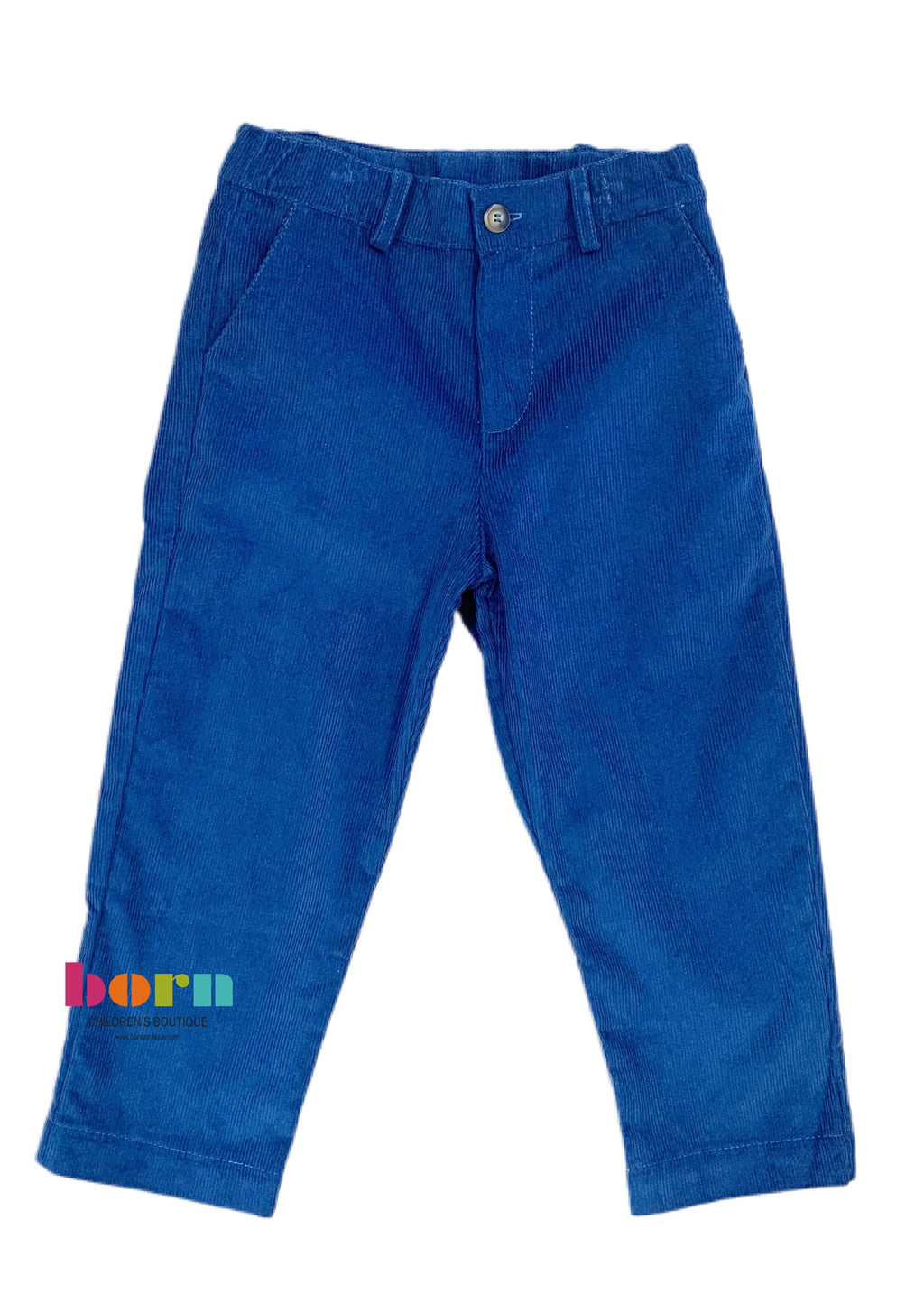 Boys Tailored Pant - Pacific Corduroy - Born Childrens Boutique