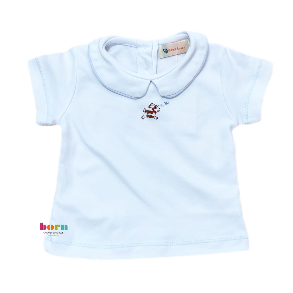 Boy S/S Knit Top Puppy - Born Childrens Boutique