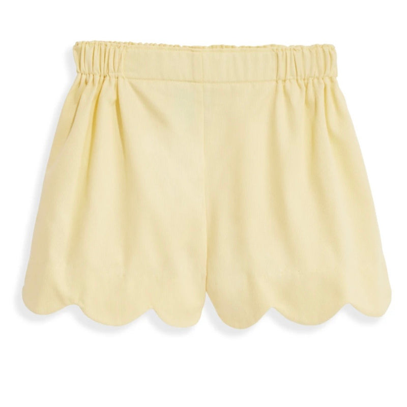 Heart Pocket Short - Yellow Pique - Born Childrens Boutique