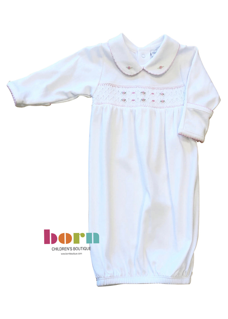 Nora and Nolan's Classics Smocked Collared Gathered