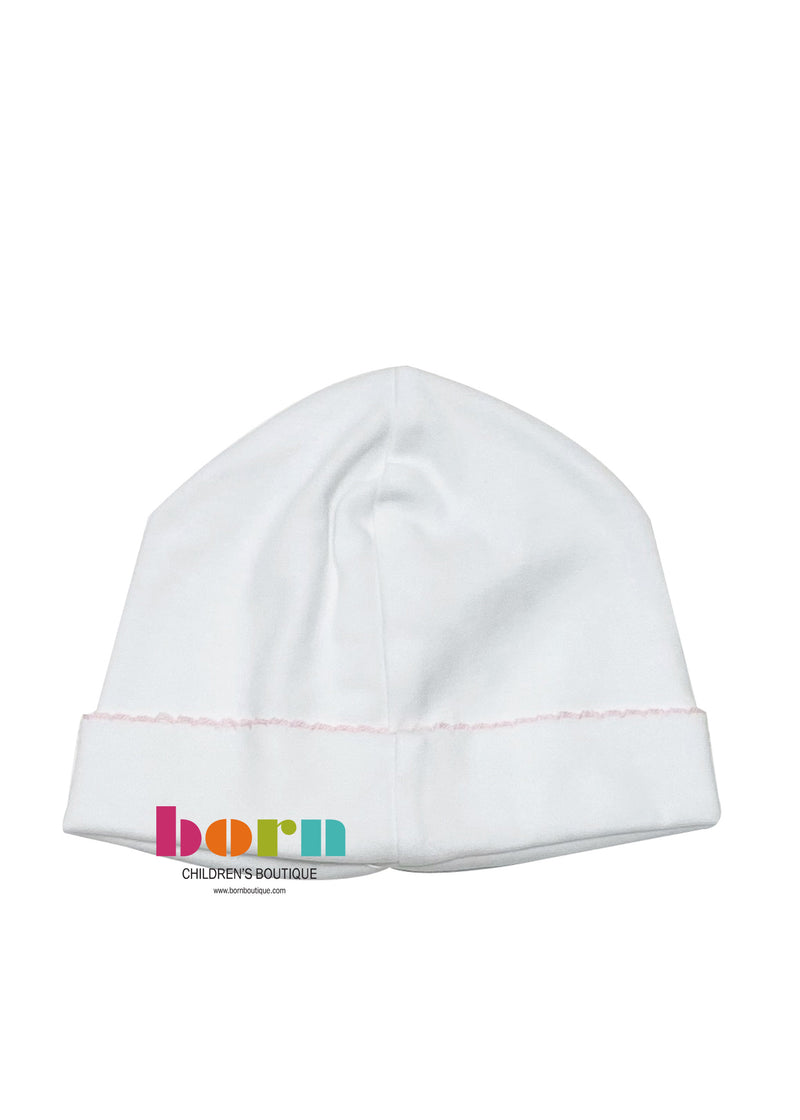 Beanie White with Pink