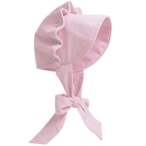 Beaufort Bonnet Light Pink Cord - Email to Order - Born Childrens Boutique