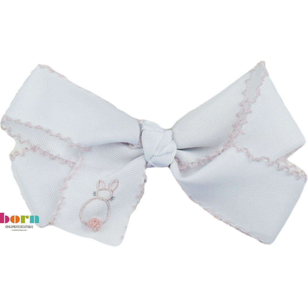 Medium Bow - Pink Bunny - Little Bunny Foo Foo - Born Childrens Boutique