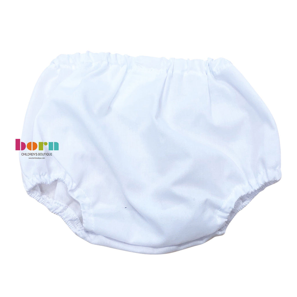 Newborn Diaper Cover White - Born Childrens Boutique