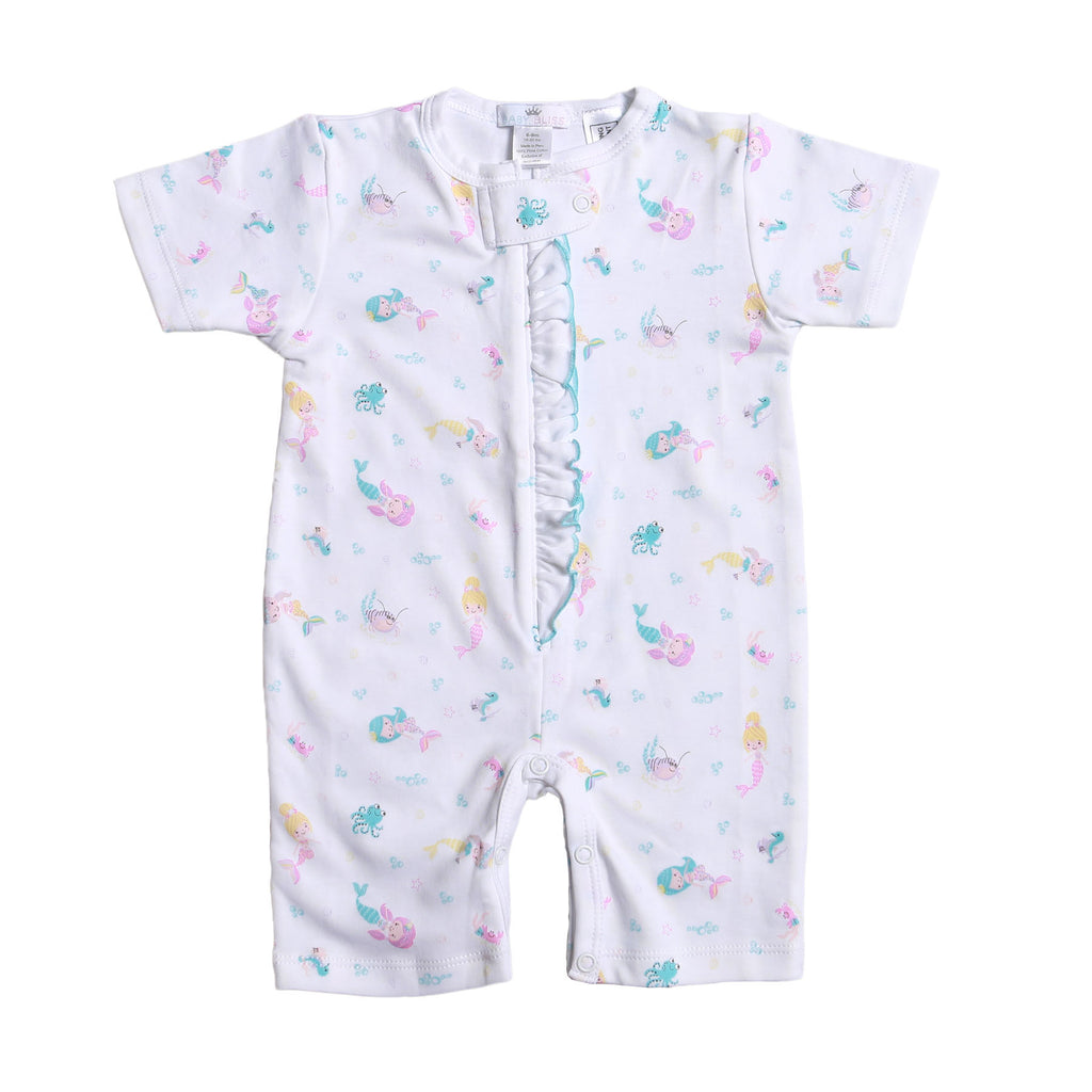 Mermaid And Sea Friends Pima Zipper Loungewear - Born Childrens Boutique
