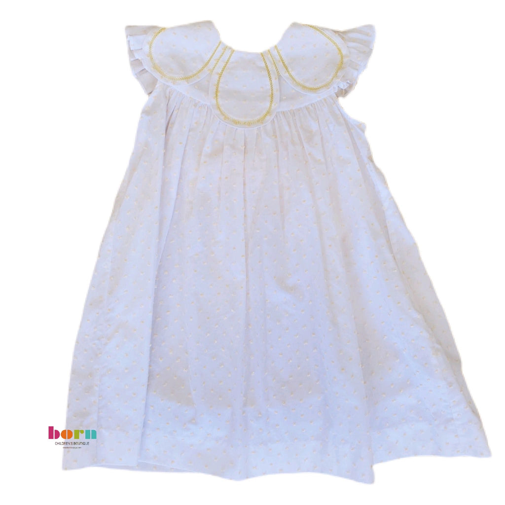 Yellow Dot Petal Float Dress - Born Childrens Boutique