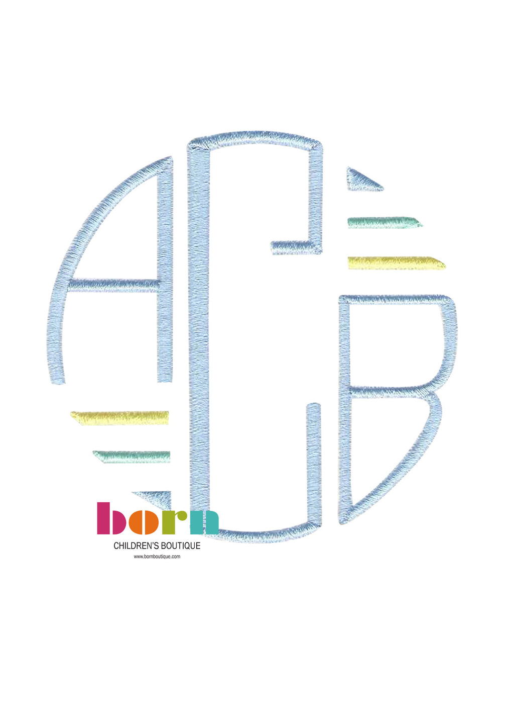 Circle Initials - Born Childrens Boutique
