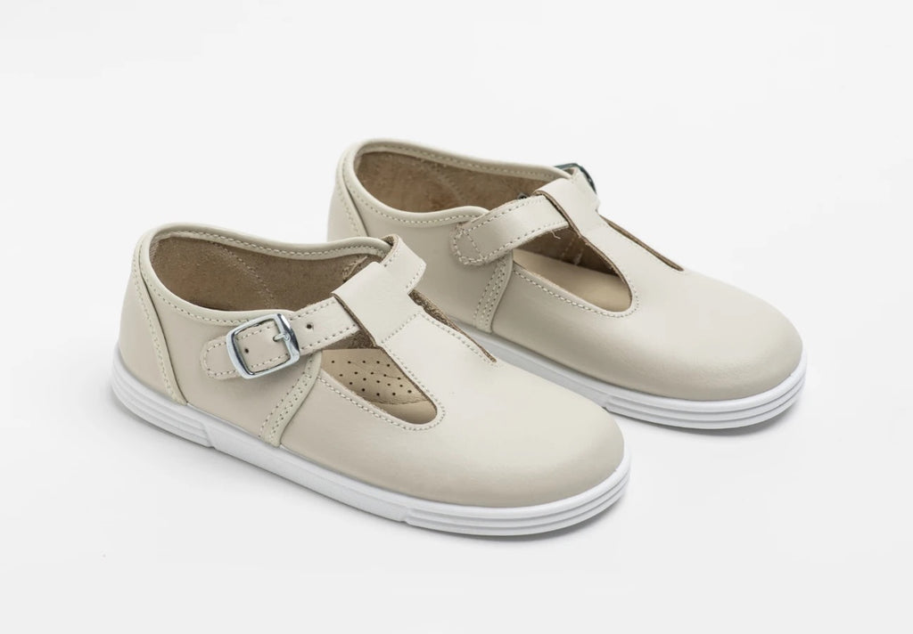 Andy Shoe Beige Leather - Born Childrens Boutique
