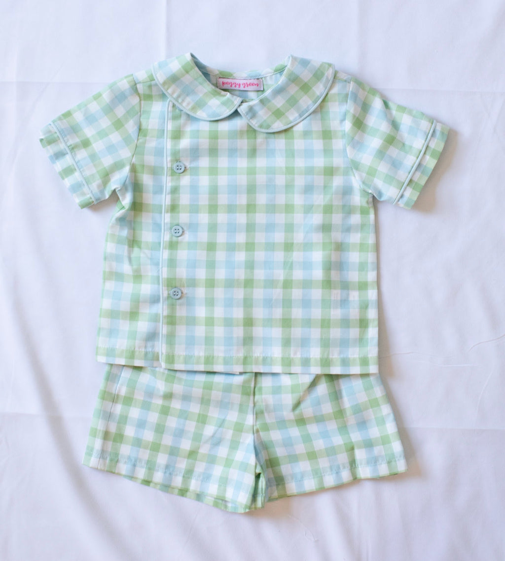Boys Stanford Short Set - Chapel Hill Check - Born Childrens Boutique