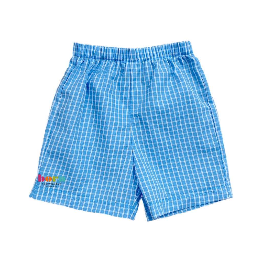 Fishing Lurs Boy's Shorts - Periwinkle - Born Childrens Boutique