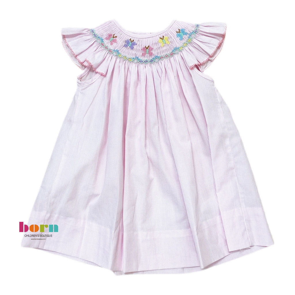 Butterflies - Angel Wing Bishop Dress - Born Childrens Boutique
