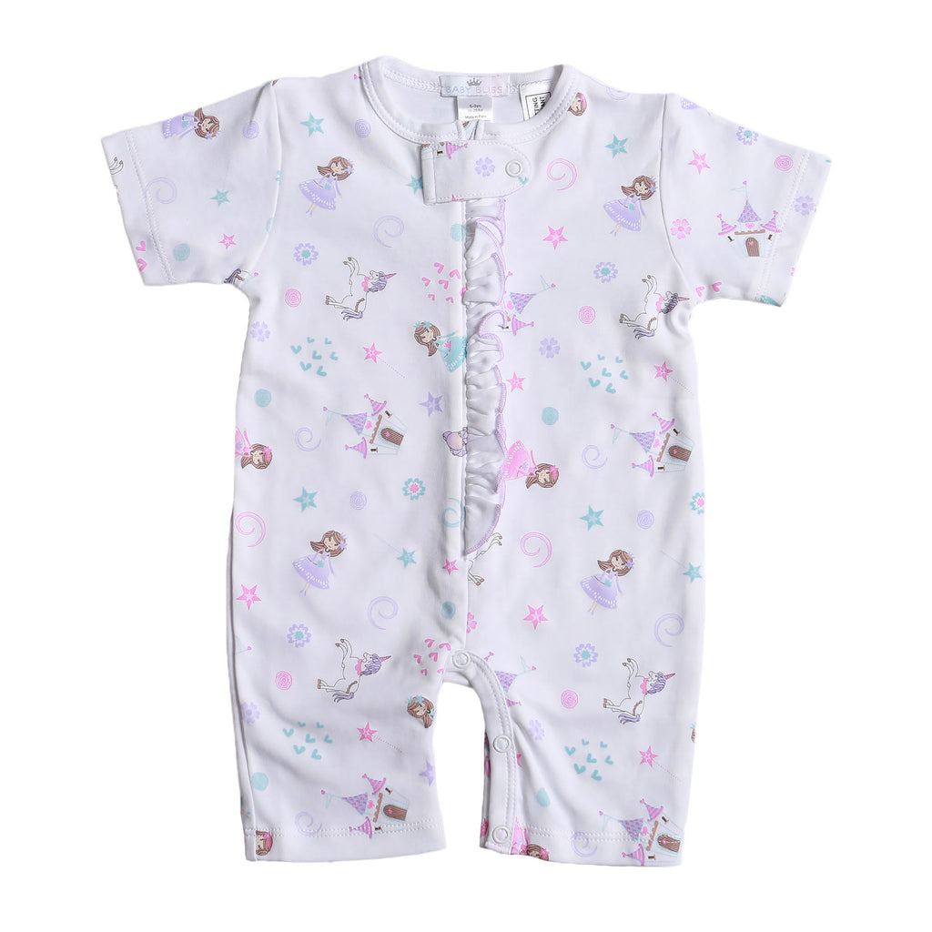 Princess And Castles Pima Zipper Loungewear - Born Childrens Boutique