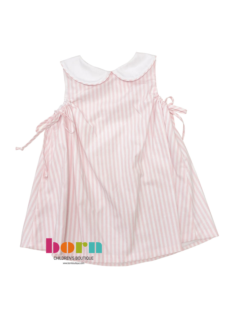 Michelle Dress Pink Stripe