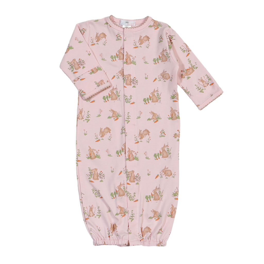 Pink Bunnies Pima Converter - Born Childrens Boutique