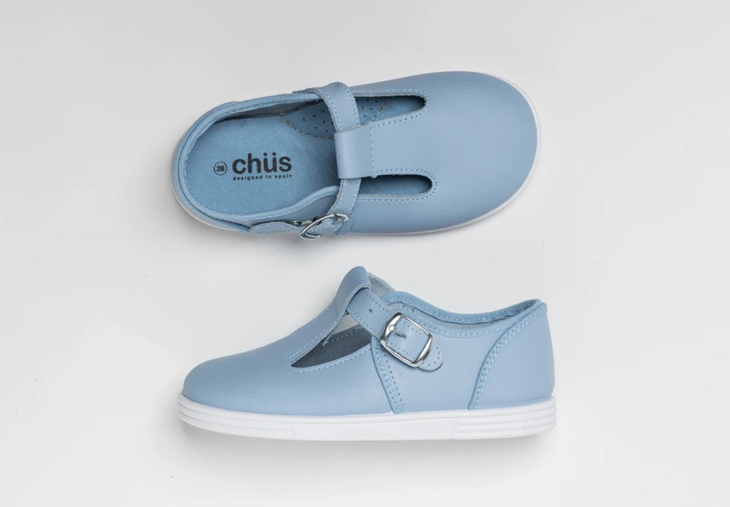 Andy Shoe Blue Leather - Born Childrens Boutique