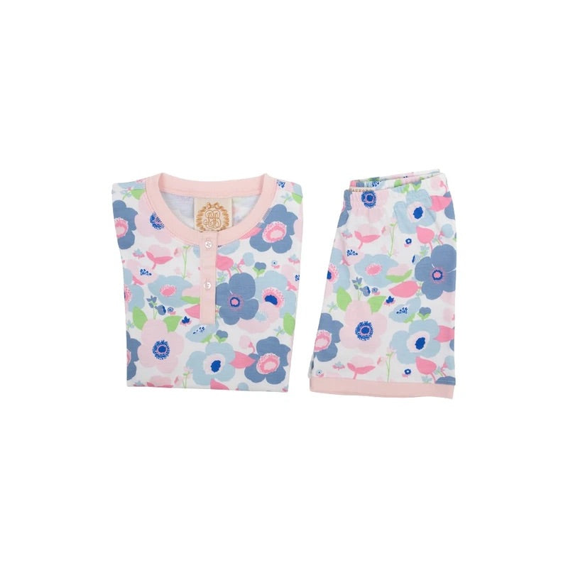 Sara Janes Short Set - Palm Springs Peony/Palm Beach Pink - Born Childrens Boutique