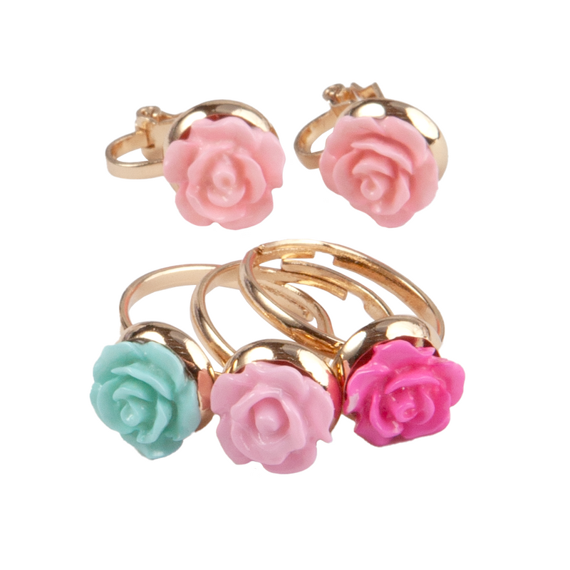 Boutique Rose Rings & Earring Set - Born Childrens Boutique