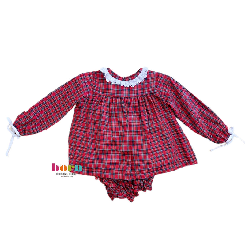 Julie Girl Bloomer - Red/Green Plaid