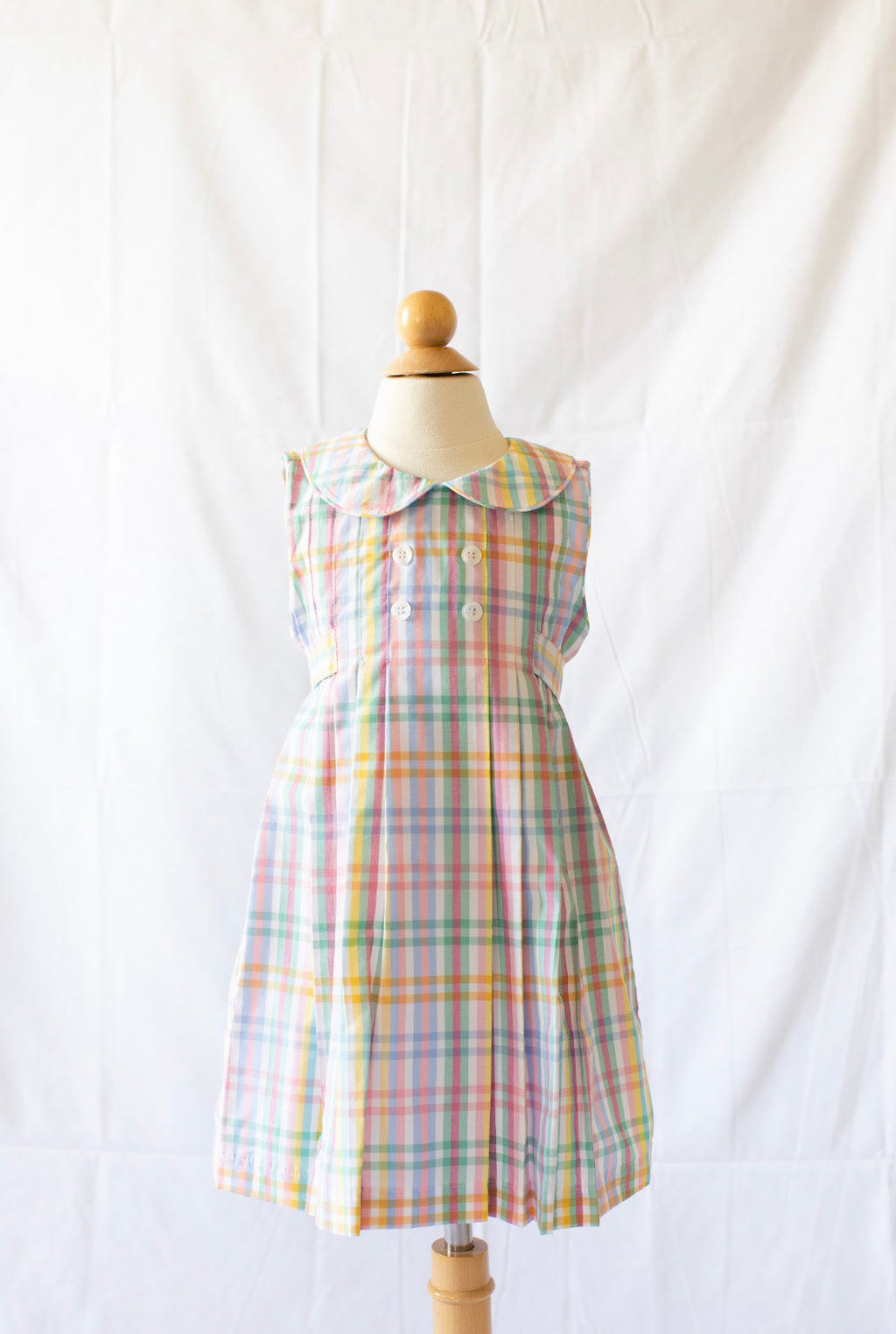 Josephine Dress - Abaco Plaid - Born Childrens Boutique