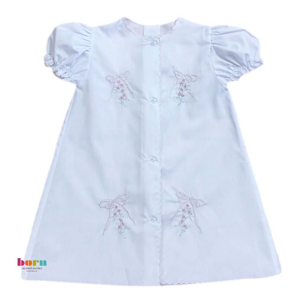 Daygown, Pink Bow - Born Childrens Boutique
