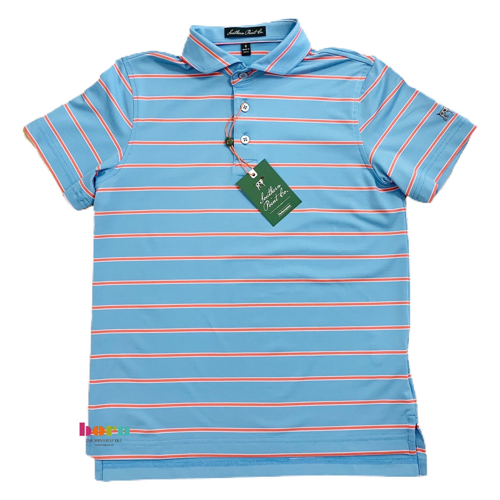 Dusk Blue Performance Polo - Born Childrens Boutique