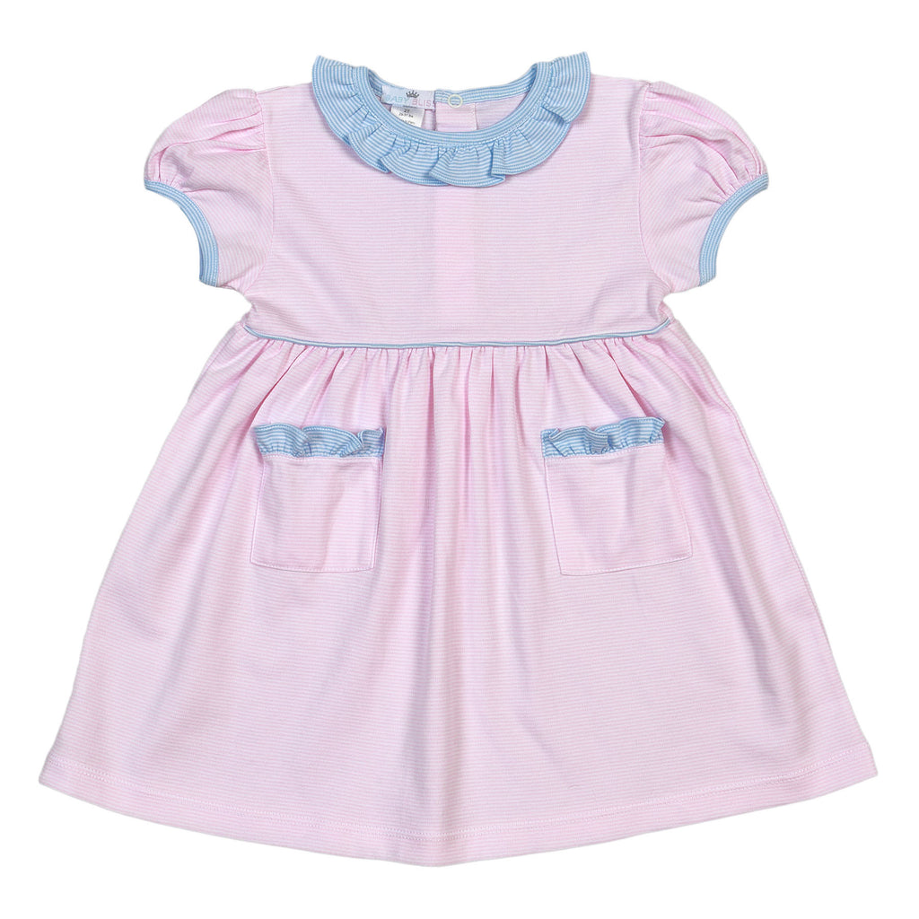 Jay Pinke Tiny Stripes Pima Dress - Born Childrens Boutique